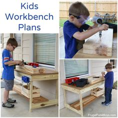 Woodworking Projects For Kids Kids Workbench Plans – Woodworking for Kids – Frugal Fun For Boys and Girls Kids Woodworking Projects, Easy Woodworking Ideas, Wood Projects For Kids, Wood Projects For Beginners, Learn Woodworking, Woodworking Workbench, Popular Woodworking, Industrial Workbench, Woodworking Machinery