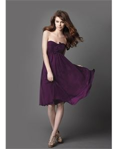 Like the flowiness of this bridesmaids dress.  Perfect for a spring wedding