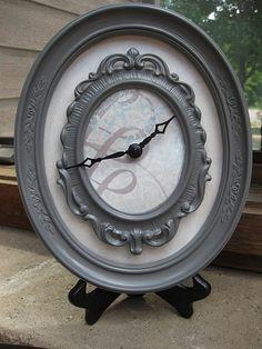 DIY clock from goodwill frames