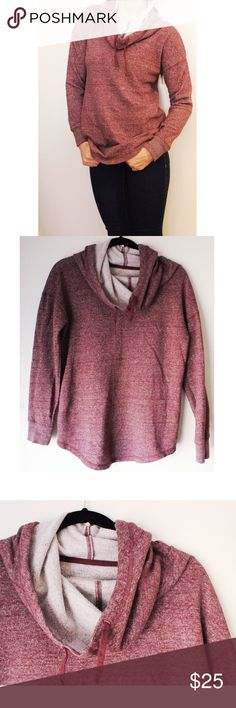 """Slouch neck sweatshirt I'm 5'6"""" for length reference. Draw string in neck goes all the way around. Warm and soft on the inside. Not super heavy good for the mid weather spring time. Tops Sweatshirts & Hoodies"""