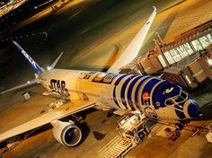 Night Flight - All Nippon Airways Boeing 787-9 (JA873A) Star Wars loading cargo