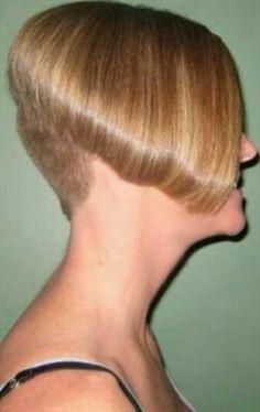 Really Short Hair, Short Hair Cuts, Short Hair Styles, Short Stacked Bobs, Angled Bobs, Sexy Bob Haircut, Shaved Nape, Inverted Bob Hairstyles, How To Look Better