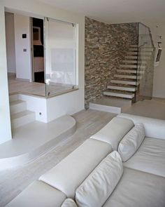 Le salon de la maison de Mark Cavendish en Italie