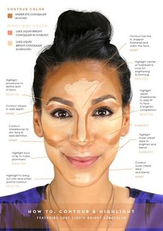 HowTo: Contour and Highlight ( Featuring Luxe Liquid Bright Concealer ) - Make Up Face Contouring, Contour Makeup, Contouring And Highlighting, Skin Makeup, Liquid Contour, Beauty Secrets, Beauty Hacks, Concealer, Homecoming Makeup