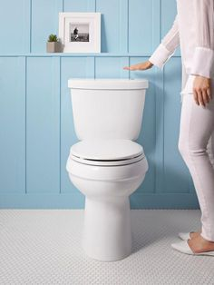 Wave goodbye to germs with a touchless toilet. Just hold your hand over the sensor to activate flushing.