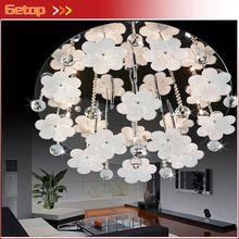 Zx moderno Circular K9 Crystal Ball flores cristal G4 llevó la lámpara del techo salon dormitorio restaurante lámpara Lustre envío gratis(China (Mainland))