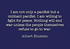We all have to demand peace. We think that if we just sit here, the government will someday open its eyes and stop sending its own to die. But it's in our hands. Change attitudes. Stop war logic.    No More War anti war peace campaign