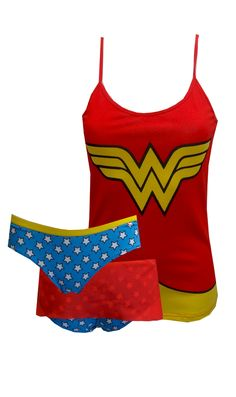 DC Comics Wonder Woman Camisole Panty Set Watch out, evil doers! These spandex camisole and panty sets for wome. Super Hero Outfits, Cute Outfits, Wonder Woman Pictures, Cute Pjs, Cozy Pajamas, Geek Girls, Lounge Wear, Underwear, My Style