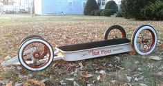 Bad Little Wagon Custom Radio Flyer Wagon, Radio Flyer Wagons, Kids Wagon, Toy Wagon, Rat Rods, Bicycle Cart, Little Red Wagon, Bike Pedals, Kids Ride On