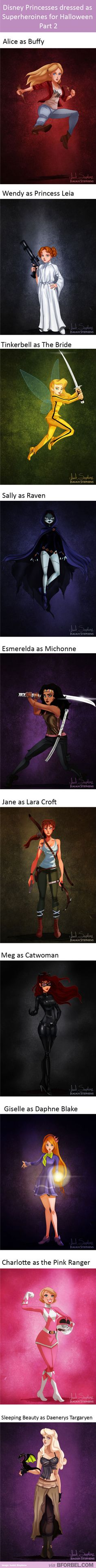 More Disney Princesses dressed as Superheroes.