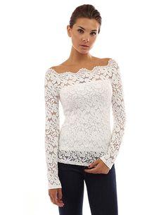 New 2018 Women White Lace Blouse Slash Neck OL Elegant Long Sleeve Lace Shirt Floral Chiffon Blouse Shirt Hollow out Blusas Tops White Lace Blouse, Black And White Blouse, White Blouses, Black White, Lace Blouses, Lace Tunic, Blue Blouse, T-shirt Au Crochet, Crochet Shirt