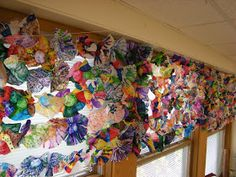 WHAT'S HAPPENING IN THE ART ROOM??: Chihuly School Wide Collaboration Project
