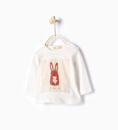 T-shirt imprimé patchwork lapin avec couronne.-T-shirts-Mini | Nouveau né-12mois-ENFANTS | ZARA France