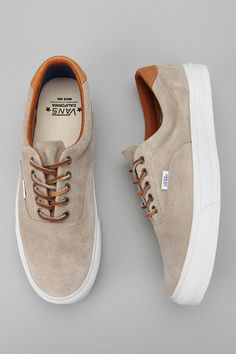 Vans California Era 48 Suede Sneaker - Era shoes are the comfiest Suede Sneakers, Vans Sneakers, Sneakers Fashion, Fashion Shoes, Mens Fashion, Vans Suede, Leather Vans, Adidas Shoes, Daily Shoes