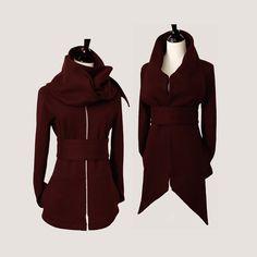 Statement Tie Fleece Knit jacket