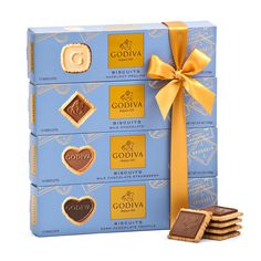 625c22eae3ec The ultimate gift for Godiva biscuit lovers  4 flavors of Godiva signature  biscuits enrobed in Belgian chocolate. Gifts for Europe