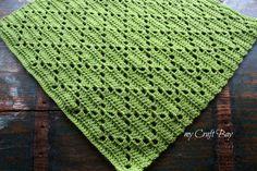 crochet diamond stitch blanket