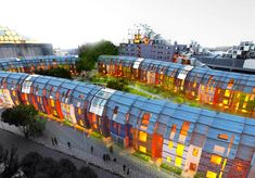 수영장이 있는 친환경 서민 공동주택