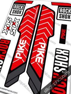 Rockshox PIKE 2013 Style Decals - YT Industries edition - Slik Graphics