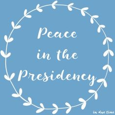I am sharing why I have peace in the middle of this presidential election