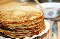 clatite Romanian Recipes, Romanian Food, Tasty, Yummy Food, Pinterest Recipes, Delish, Breakfast Recipes, Food And Drink, Sweets