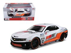 "2010 Chevrolet Camaro RS SS ""All Stars"" White 1/24 Diecast Model Car by Maisto - Brand new 1:24 scale diecast model car of 2010 Chevrolet Camaro RS SS White 1/24 ""All Stars"" by Maisto 31359w. Brand new box. Rubber tires. Has opening hood, doors and trunk. Made of diecast with some plastic parts. Detailed interior, exterior, engine compartment. Dimensions approximately L-7.5, W-3, H-2.5 inches. Please note that manufacturer may change packing box at anytime. Product will stay exactly the…"