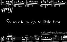 Yes...Pianist Problems