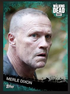 Merle Dixon (Teal Parallel) Insert Card The Walking Dead 2016 Topps
