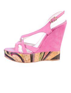 Emilio Pucci Platform Sandals  Pink makes me happy!!