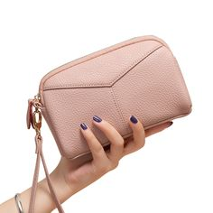 Women Genuine Cowhide 6.3 Inches Phone Clutch Wallet Keys Card Coin Holder 5 Colors  Worldwide delivery. Original best quality product for 70% of it's real price. Hurry up, buying it is extra profitable, because we have good production sources. 1 day products dispatch from warehouse. Fast...