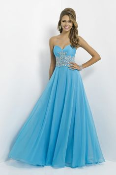 2014 Marvelous Sweetheart A Line Beaded Chiffon Prom Dresses With Ruffle