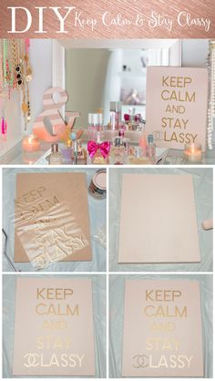 DIY Keep Calm & Stay Classy chanel vinyl sign Rose Gold and Pink - Untitled Page-2