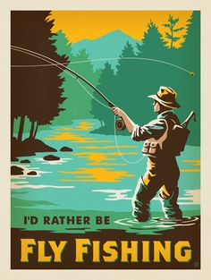 Anderson Design Group – Lake and Lodge – I'd Rather Be Fly Fishing