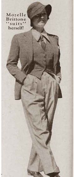 1930s Marlene Dietrich in a pant suit