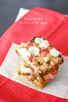 Delicious Valentine Seven Layer Bars