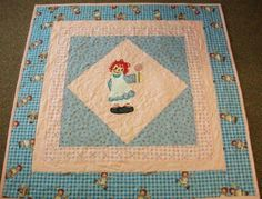 Handmade One Of a Kind Raggedy Ann Finished Applique Quilt