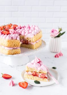 Erdbeer-Herztorte zum Muttertag
