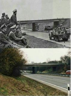 Then & Now Giessen Autobahn, Germany