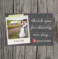 DIY Printable Wedding Thank You Postcard Chalkboard von themunch