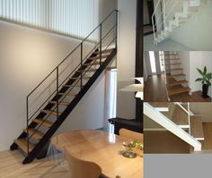 AIネクスト《AZ-Stairs》 リビング・デザイン階段の専門メーカー Perspective Drawing, Modern Cottage, Cottage Homes, Stairways, House Design, Doors, Living Room, Interior, Furniture