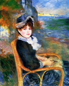 By the Seashore - Renoir Pierre-Auguste Date: 1883 Style: Impressionism Period: Rejection of Impressionism Genre: portrait