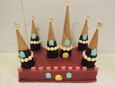 Pastel castillo de chocolate