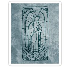 Hand drawn vector illustration or drawing of Mary Virgin of Guadalupe • Also buy this artwork on stickers, apparel, phone cases, and more.