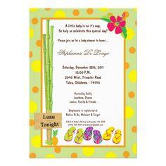 Luau Baby Shower Invitations