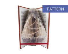 Folded Book Art Pattern - Christmas Tree - 198 Folds - Including manual - Bookfolding Pattern - Folded Book Pattern - Book Folding pattern