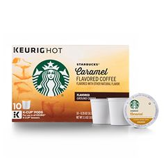 Starbucks Caramel Flavored Medium Roast Single Cup Coffee for Keurig Brewers, 1 Box of 10 (10 Total K-Cup pods) * Find out more at the image link.
