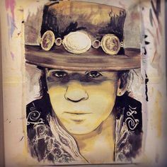 Stevie Ray Vaughan portrait by ~geertvanleeuwen on deviantART