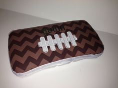 Personalized Chevron Football Travel Baby Wipes Case Perfect Shower Gift. Baby Wipe Case, Wipes Case, Baby Shower Themes, Shower Ideas, Football Baby Shower, Boy Or Girl, Baby Boy, Football Themes, Crates