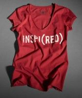 inspi(red) 2006 GAP t shirt to raise AIDS awareness.  Apparently, this one was worn by Penelope Cruz