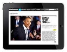 National Journal | Mobile Apps by Shaylyn Berlew, via Behance